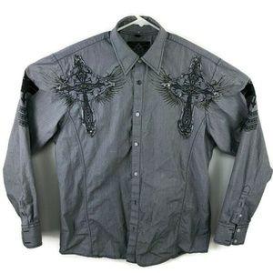 Roar Embroidered Button Down Shirt